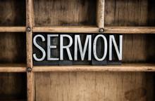 Sermon Concept Metal Letterpre...