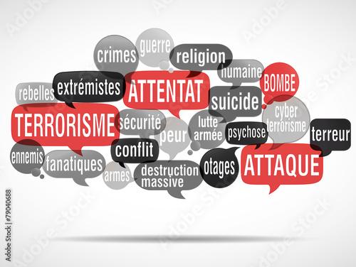 Fotografía  nuage de mots : terrorisme