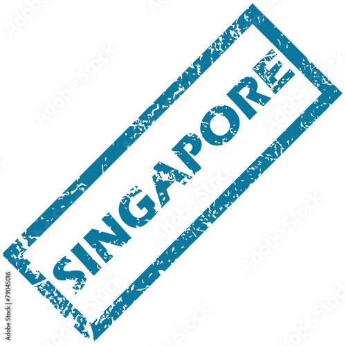 Photo  Singapore rubber stamp
