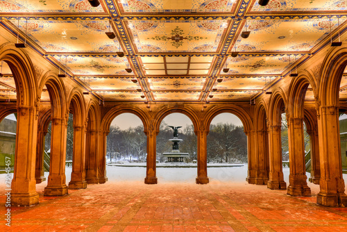 фотография  Bethesda Terrace at Night, Central Park