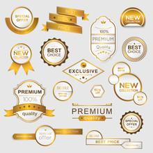 Collection Of Golden Premium P...
