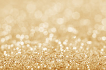 Gold Defocused Glitter Backgro...