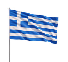 Waving Flag Of Greece O