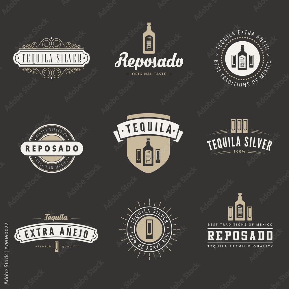 Photo art print tequila hipster logo design vector typography photo art print tequila hipster logo design vector typography lettering template europosters maxwellsz
