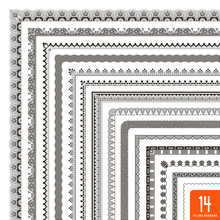 Large Collection Of Seamlessly Tiling Borders/frames (14 Items)