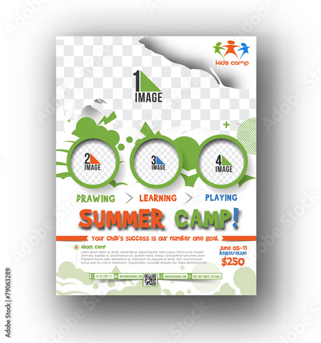 Fotografía  Summer Camp Flyer & Poster Template
