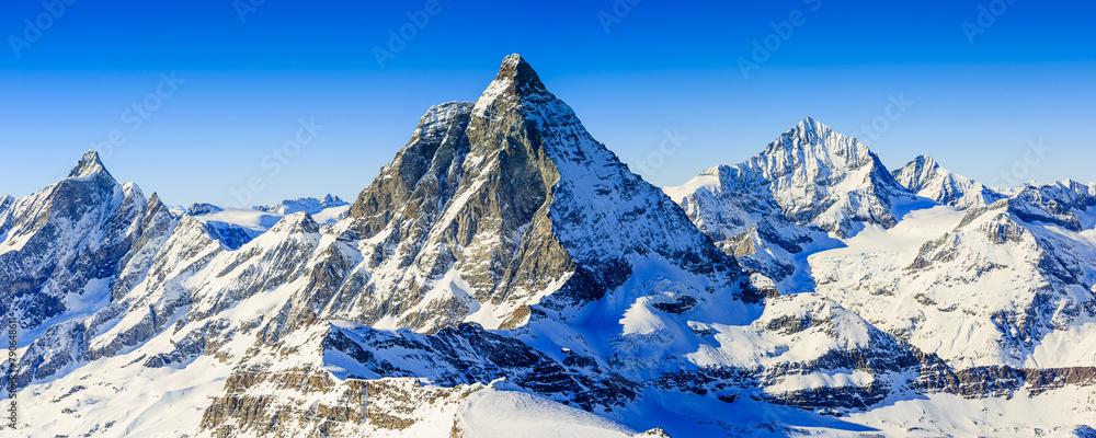 Fototapeta Matterhorn, Swiss Alps - panorama