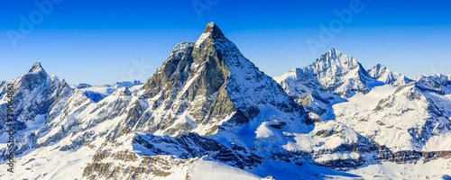 Spoed Foto op Canvas Alpen Matterhorn, Swiss Alps - panorama