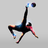 Fototapeta Sport - abstract over head kick