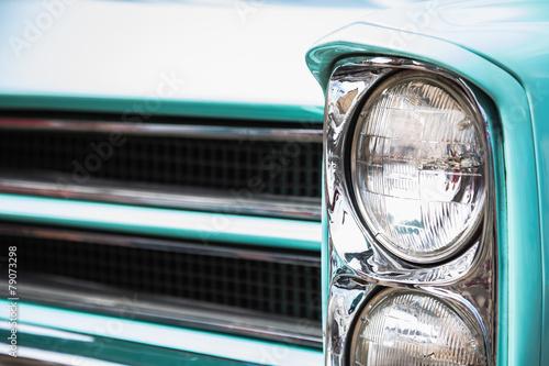 Old vintage car front lights or headlights Fotobehang