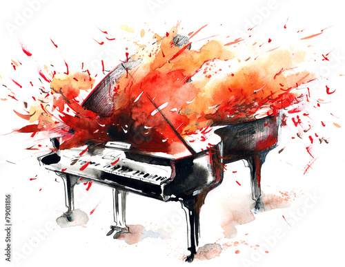 Photo sur Aluminium Peintures music