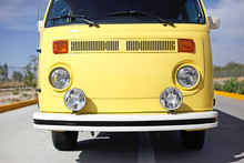 Front Of A Yellow Bus