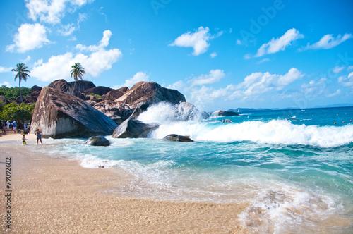 Foto op Plexiglas Caraïben The Baths at Virgin Gorda (Tortola) - Caribbean
