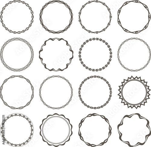 Set of 16 simple round frames. Fototapete