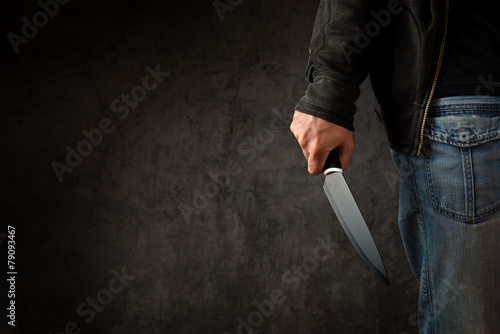 Cuadros en Lienzo Criminal with large sharp knife