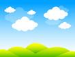 sfondo, cielo, nuvole, primavera, estate
