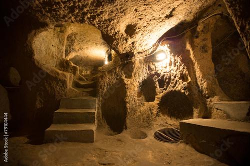Derinkuyu cave city in Cappadocia Turkey Plakát