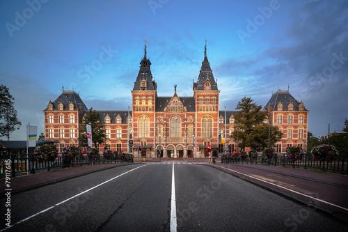 Deurstickers Amsterdam National Museum Amsterdam
