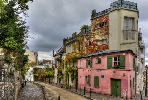 The historic district of Montmartre in Paris,France - 79125218