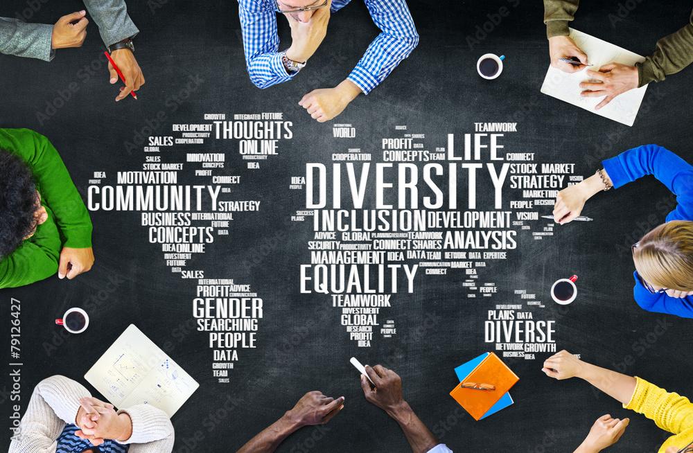 Fototapety, obrazy: Diversity Ethnicity World Global Community Concept