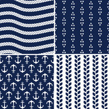 seamless navy and white nautical patterns