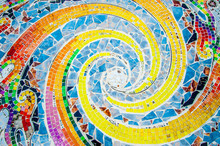 Art Mosaic Glass On The Wall