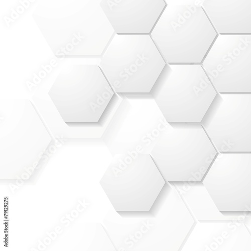 Fototapety, obrazy: Abstract grey hexagons tech design