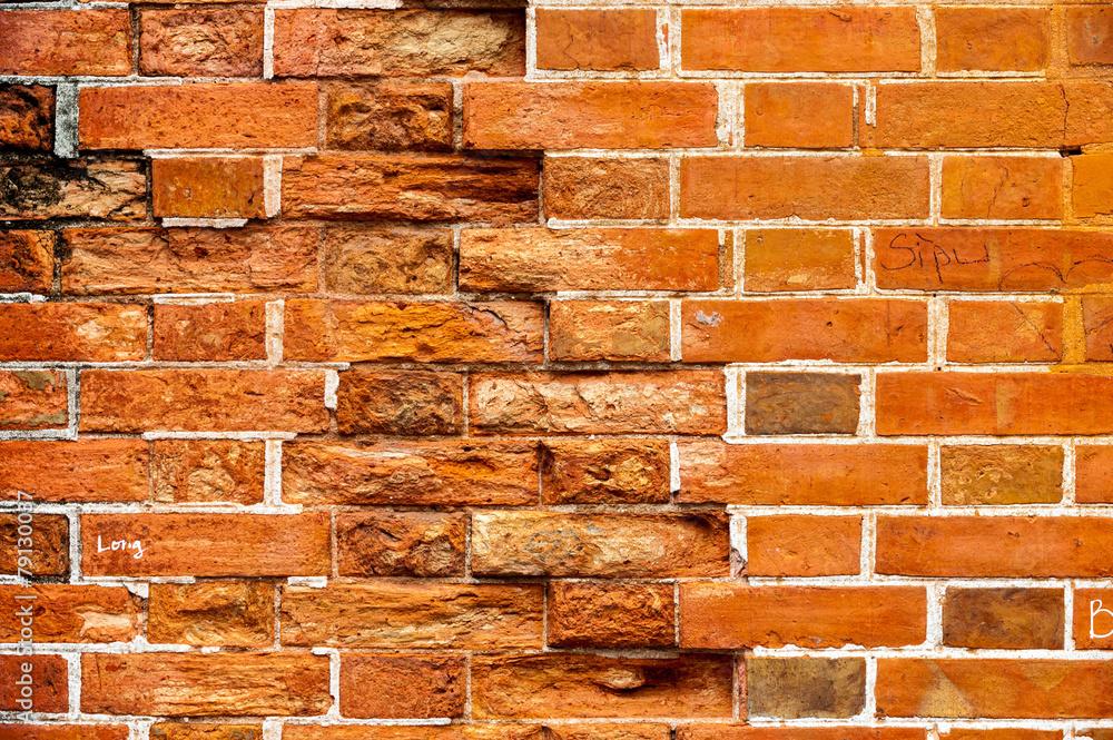 Leinwandbild Motiv - ktianngoen0128 : Old brick wall as background