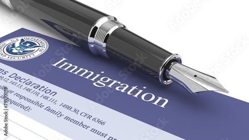 Fotografie, Tablou  Customs document