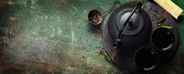 Black iron asian tea set
