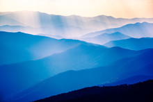 Sunset In The Great Smoky Moun...