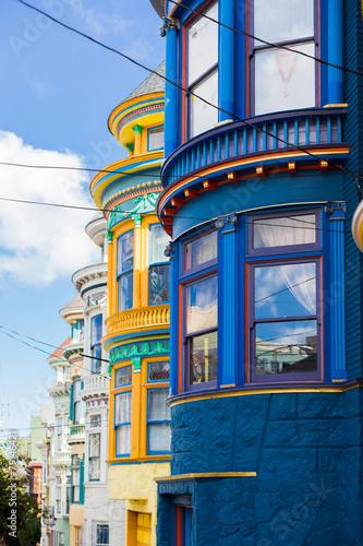 Keuken foto achterwand San Francisco Colorful buildings in Haight Ashbury, San Francisco