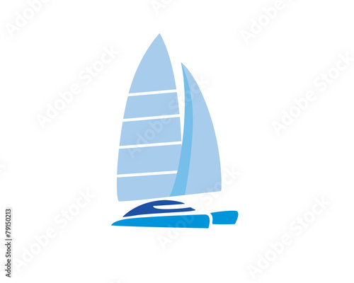Canvas Catamaran Sailing Boat