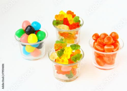 Keuken foto achterwand Snoepjes bonbons colorés gélifiés assortiment de couleurs