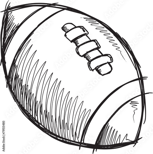 Poster Cartoon draw Doodle Sketch Football Vector Illustration Art