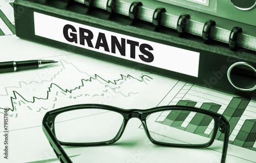 folder with label grants Fototapet