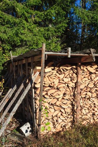 In de dag Brandhout textuur Firewoods