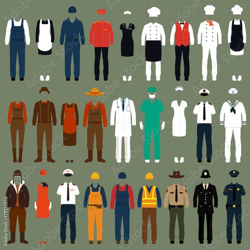 Fotografía  vector icon workers, profession people uniform, cartoon vector