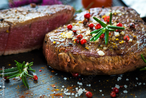 Recess Fitting Steakhouse Juicy Fillet Steak with Fresh Herbs