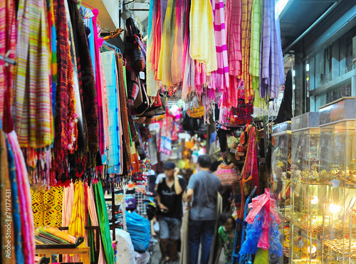 Colorful Chatuchak market, Thailand Poster