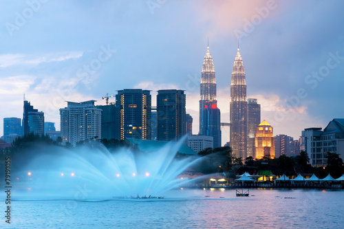 Canvas Prints Kuala Lumpur Views of Kuala Lumpur at Lake Titiwangsa, Malaysia