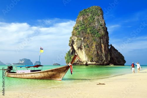 Fotografie, Obraz  Railay beach. Krabi, Thailand