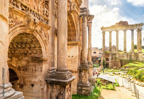 Photo Arch of Emperor Septimius Severus n Rome