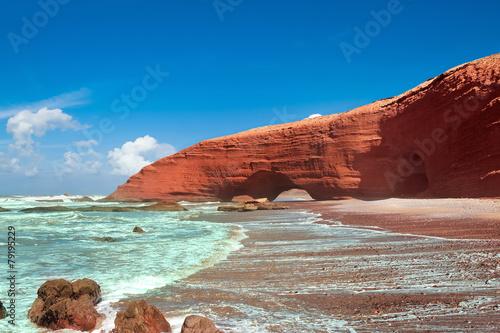 Poster Maroc Legzira beach, Sidi Ifni, Souss-Massa-Draa, Morocco