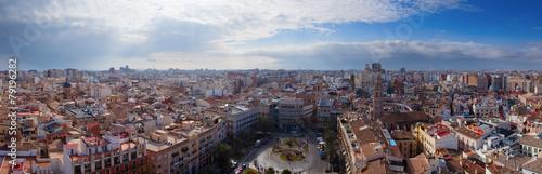 Luftansicht von Valencia als Panoramabild