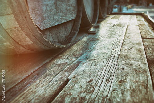 Fotografiet Barrel Casks Wood