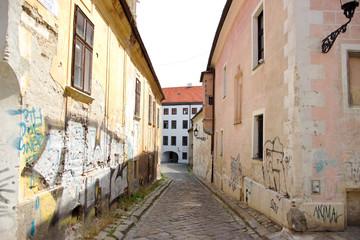 Fototapeta na wymiar Historical Street in Center