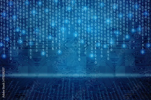 Fotografía Binary Business Background