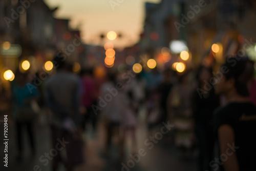 Fototapeta Crowd of people in Talang Road, Phuket