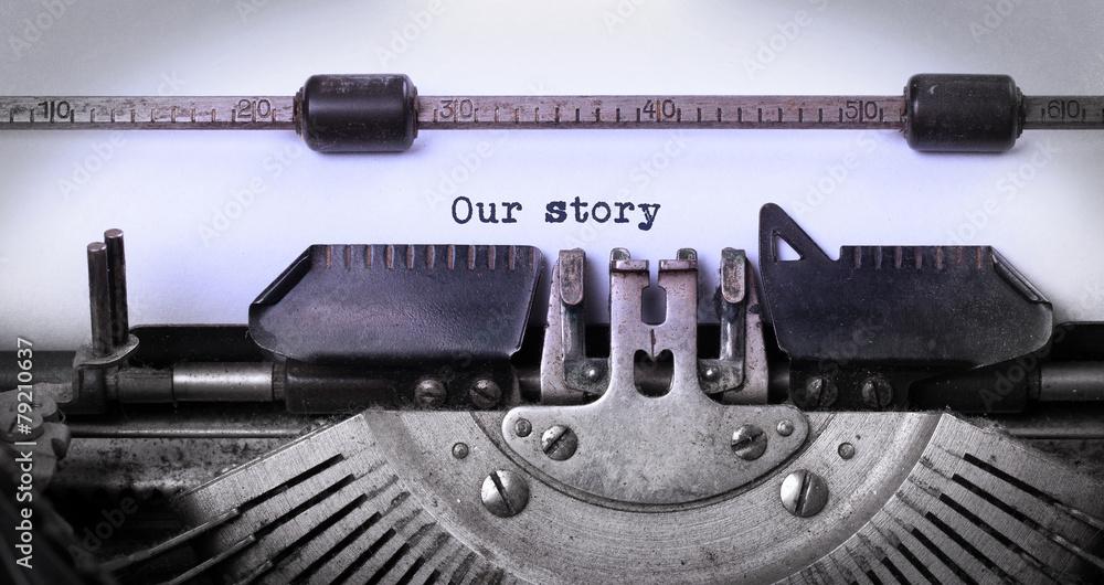 Fototapety, obrazy: Vintage inscription made by old typewriter